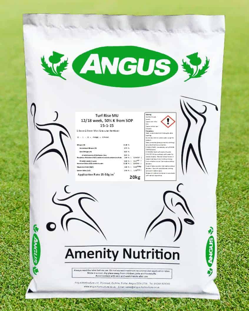 Product image of Turf Rise MU granular slow release nitrogen